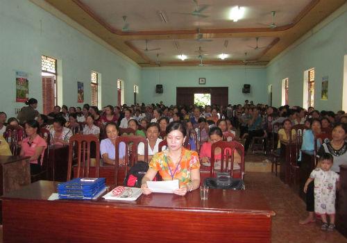 Phụ nữ Hiệp Hòa truyền thông dinh dưỡng cho hội viên