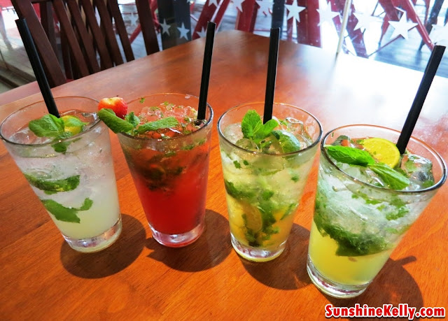 Top Shelf Mojito, Strawberry Mojito, Mango Caramel Mojito and Signature Mojito