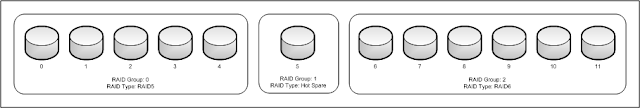 Physical disks in RAID Groups