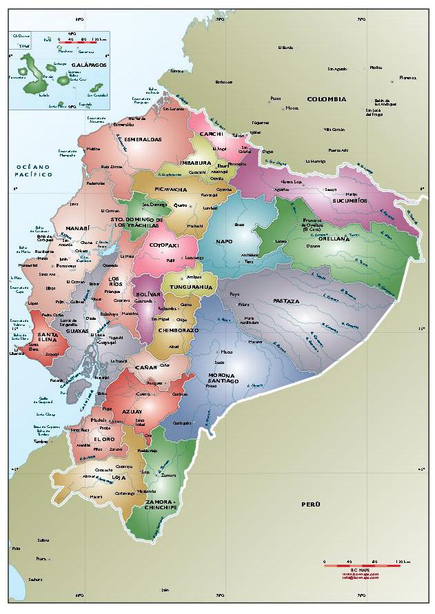 ecuador mapa político