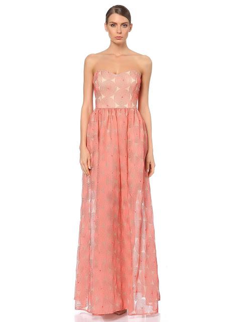 straplez uzun kabarık balo elbisesi