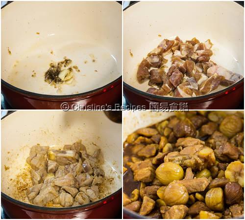 栗子燜排骨製作圖 How To Make Braised Pork Ribs with Chestnuts