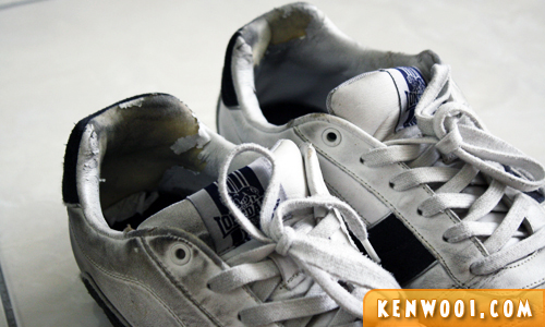 lonsdale old shoes upclose