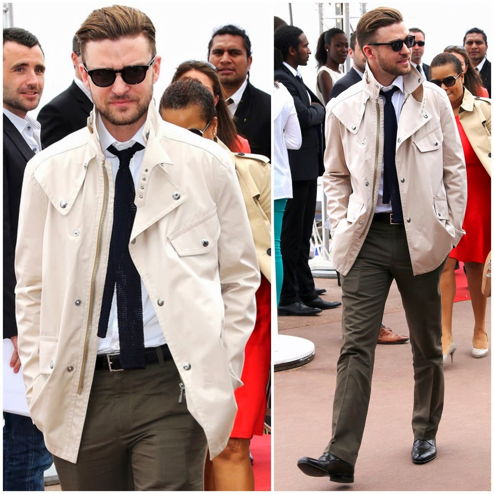 00O00 Menswear Blog: Justin Timberlake in Belstaff - Torch Cannes 'Spinning Gold' Celebration May 2013