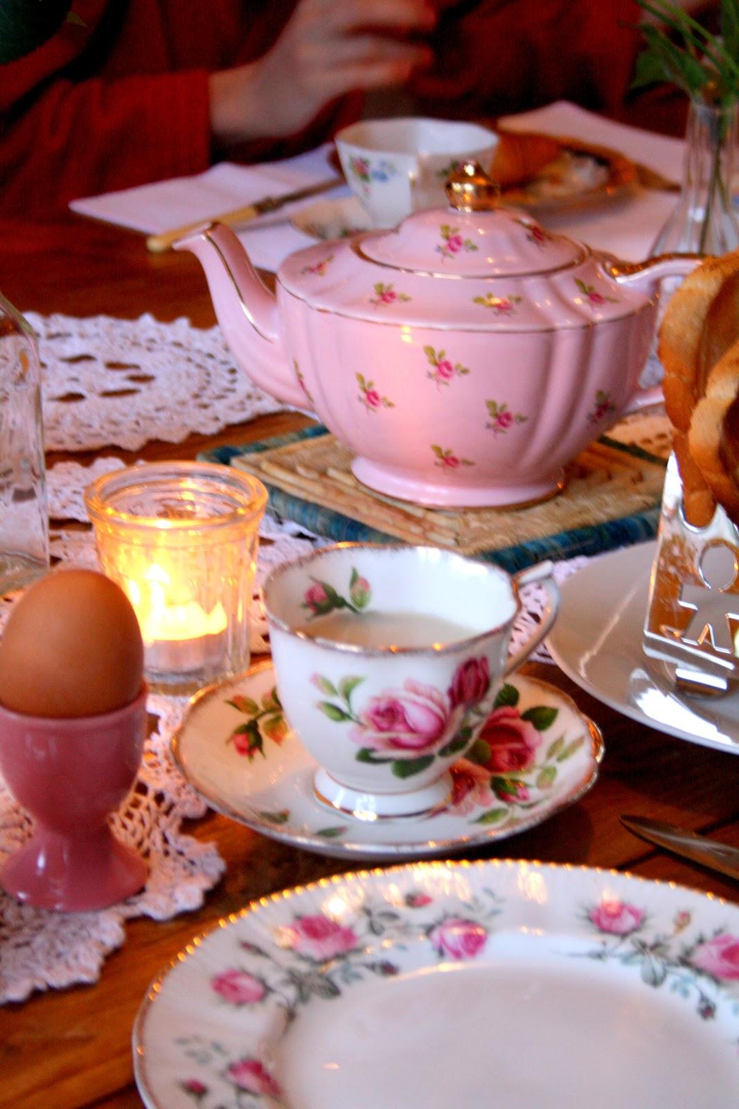Good Morning Tea With Breakfast : Madelief vintage breakfast table