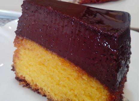 Bolo Pudim de Cenoura e Chocolate Edu Guedes
