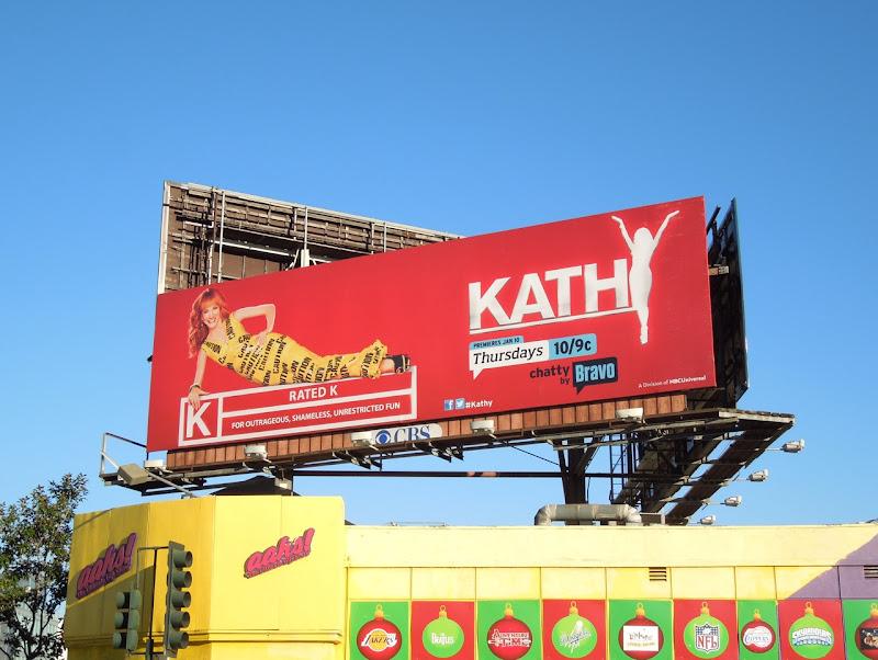 Kathy Griffin talk show season 2 Bravo billboard
