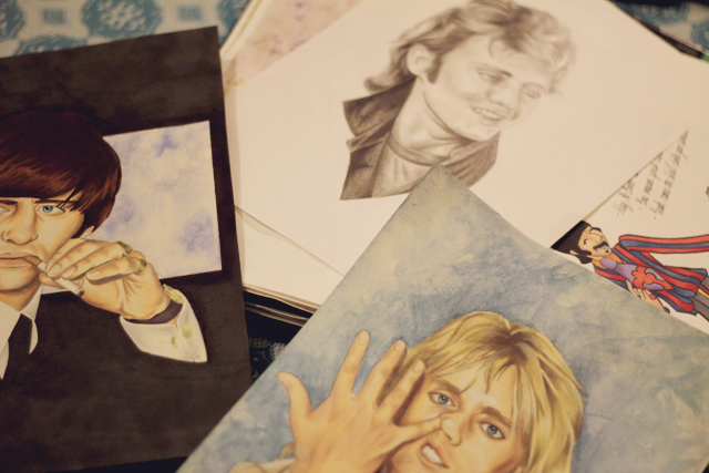 Art work, drawing, Ringo Starr, Beatles, Roger Taylor, Queen