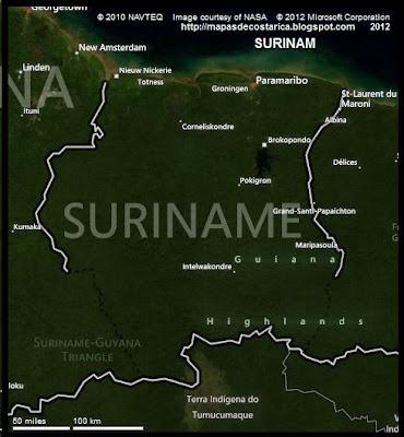 Vista aérea de SURINAM, BING