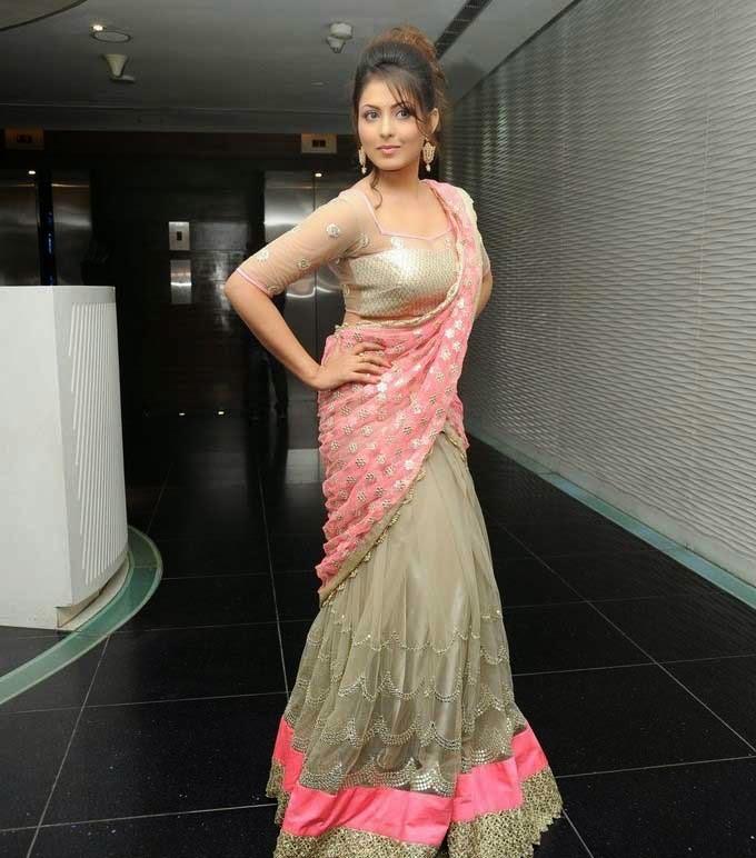Madhu Shalini In Designer Half Saree