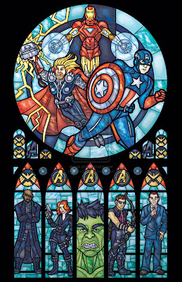 Church Avengers Vingadores Vitral