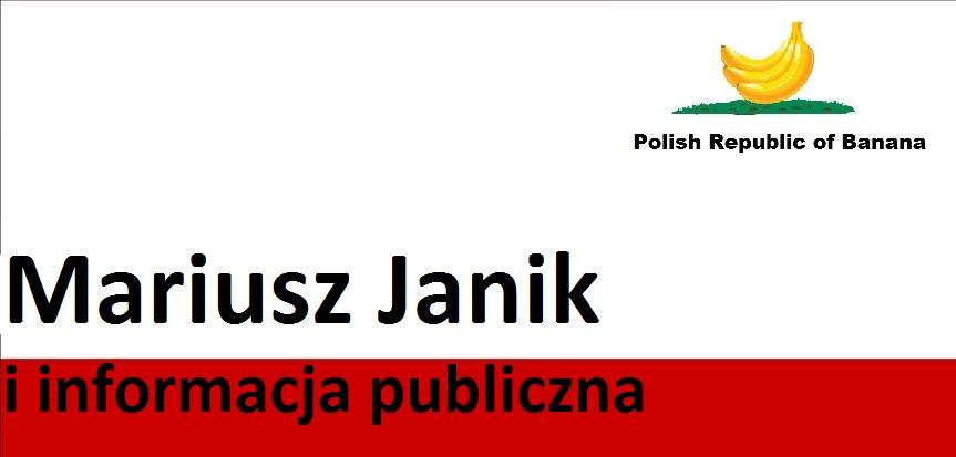 Mariusz Janik i informacja publiczna