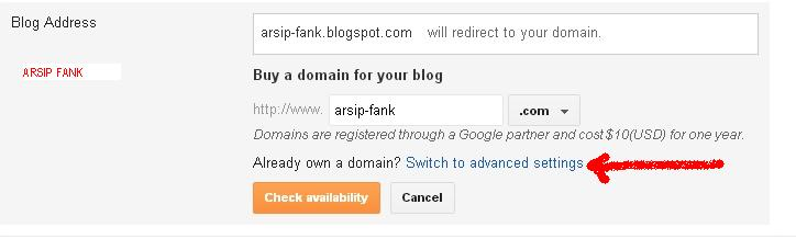 Beli Domain dan Setting ke Blogspot