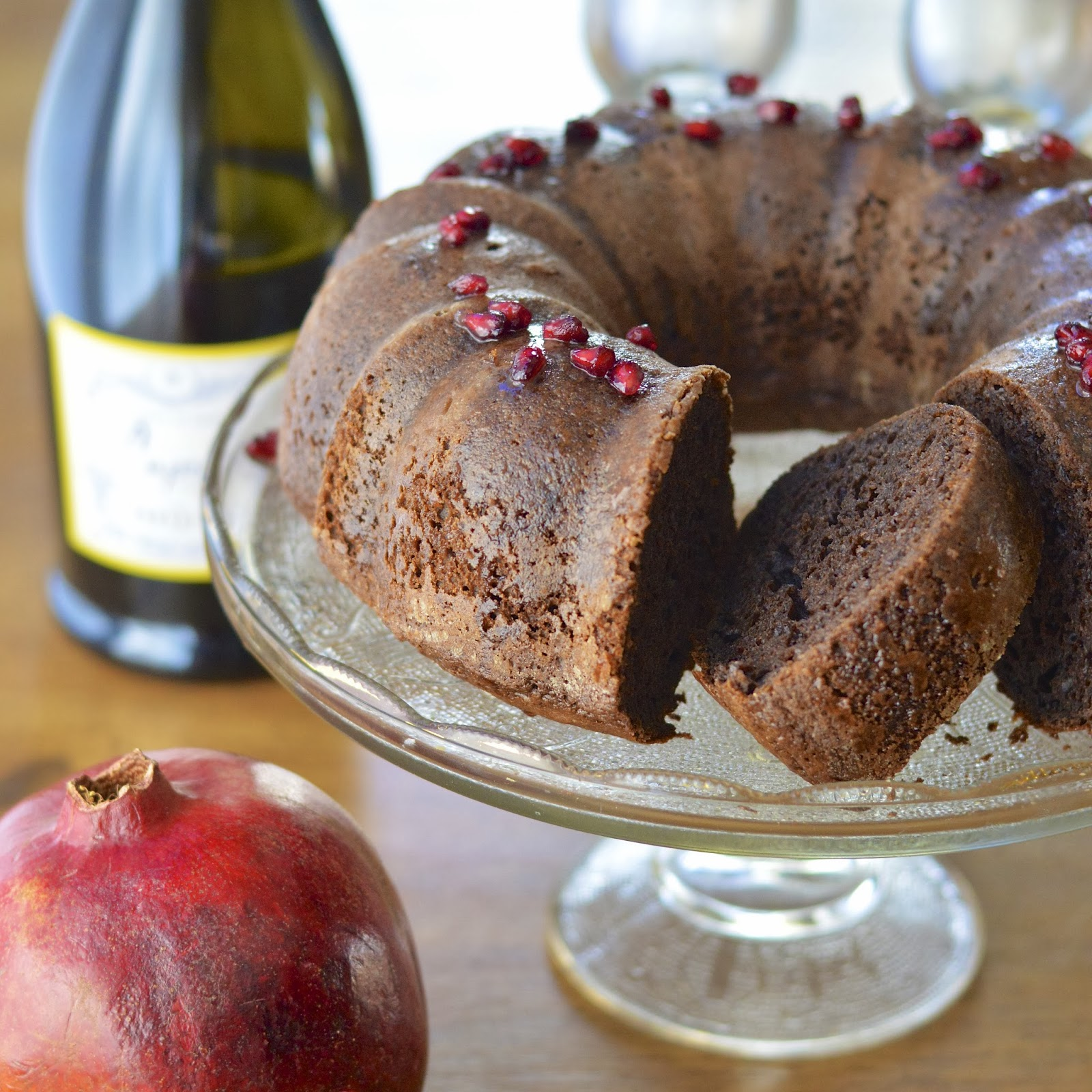 Cheater's Chocolate Pound Cake with a Pomegranate Champagne Glaze ...