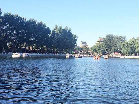 boating in Houhai
