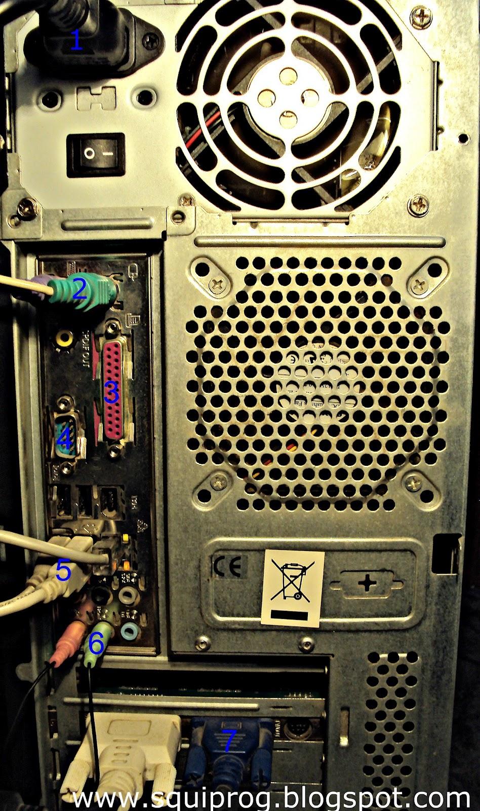 Задняя панель компьютера фото 6