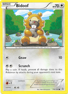 Bidoof Primal Clash Pokemon Card
