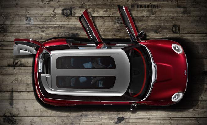 Mini Clubman Concept: overhead view
