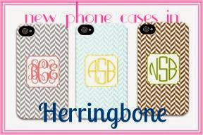herringbone personalized smartphone case