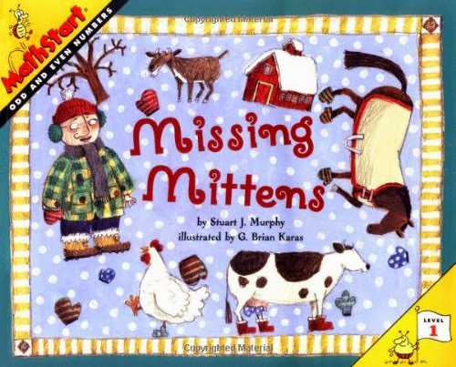 http://www.amazon.com/Missing-Mittens-MathStart-Stuart-Murphy/dp/0064467333