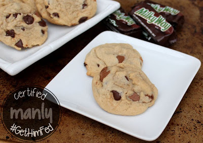Milky Way Chocolate Chip Cokies by The Salty Kitchen for #GetHimFed on www.anyonita-nibbles.com