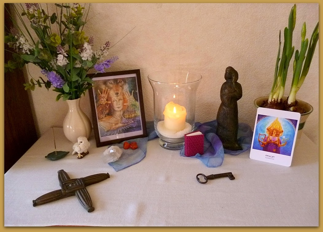 Altar Imbolc Brigid Creativity