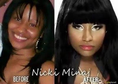Nicki Minaj with and without Makeup . Makeup can do anything . Nicki minaj without makeup .