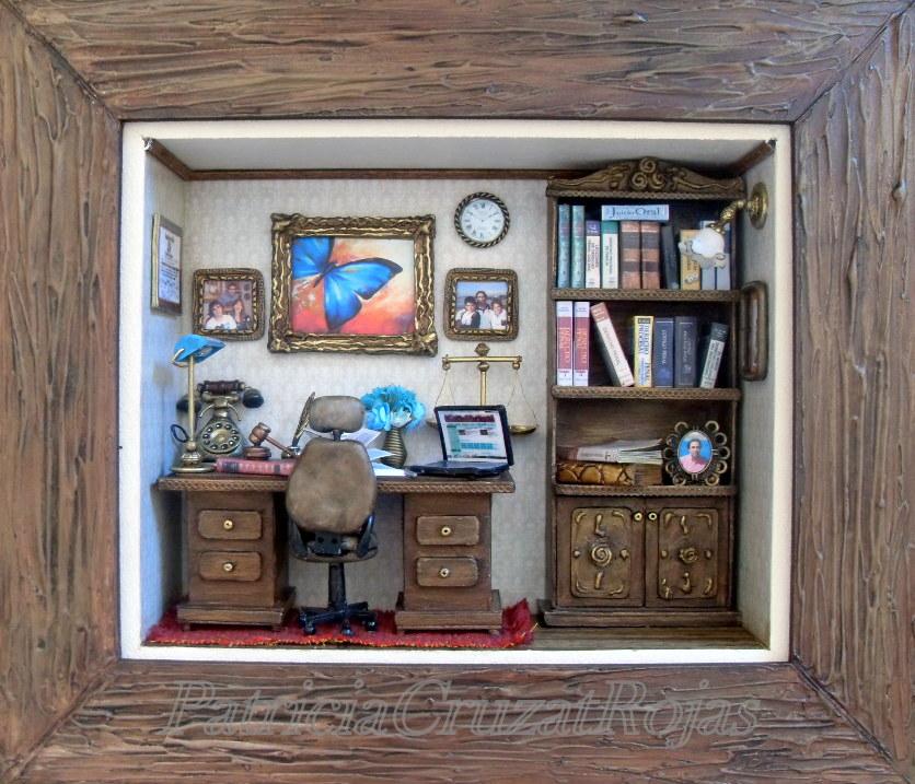 Patricia cruzat artesania y color despacho de abogado con - Cuadros para despachos ...