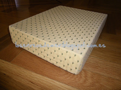 Caja de cartón forrada de tela