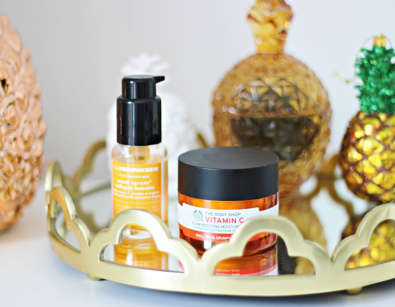 vitamin c based skincare from the Body Shop and Ole Henriksen