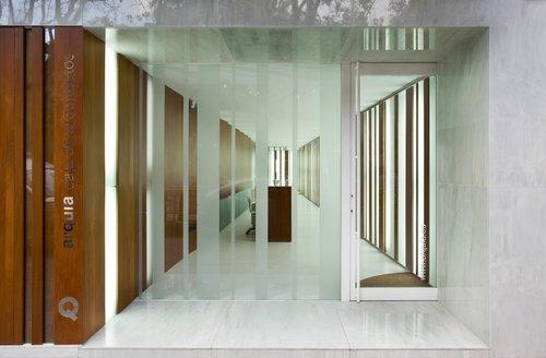 Oficina arquia caja de arquitectos de c diz espacios en madera - Oficinas y tabiques de cordoba ...