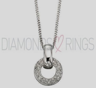 Circle Diamond Pendant Necklace