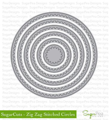 SugarCuts Zig Zag Stitched Circles