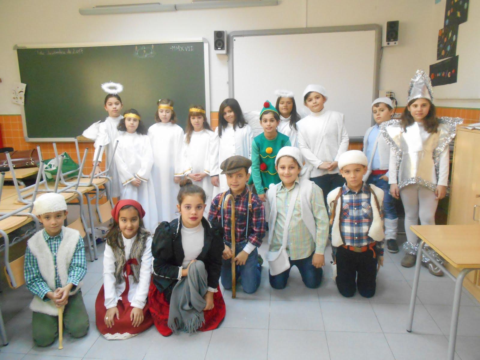 PREPARADOS, EN CLASE, PARA EL FESTIVAL