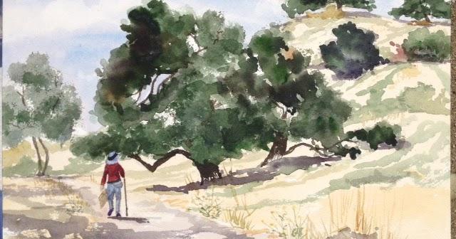 Paintsites Blog Guadalupe Oak Grove Park Hike Sketch San Jose Thursd