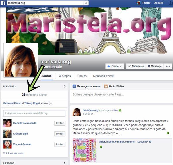"""page facebook """"Apprendre le portugais"""""""