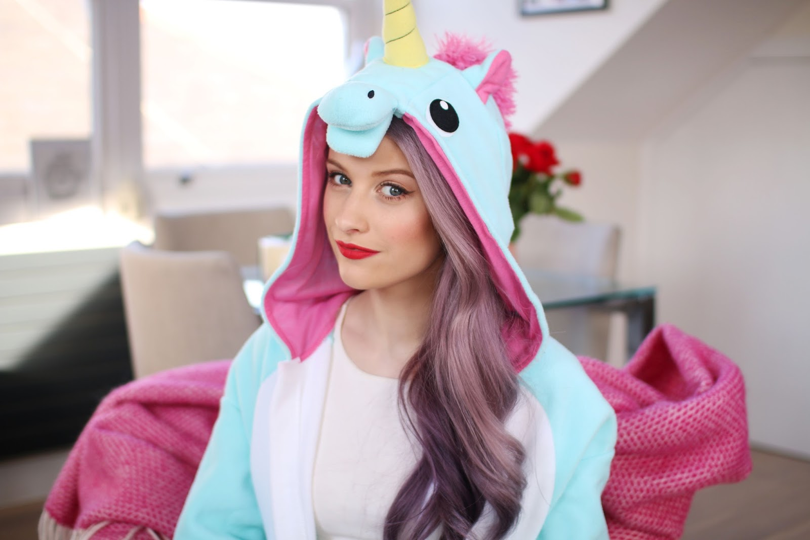 Ohh Deer Unicorn Onesie in Blue