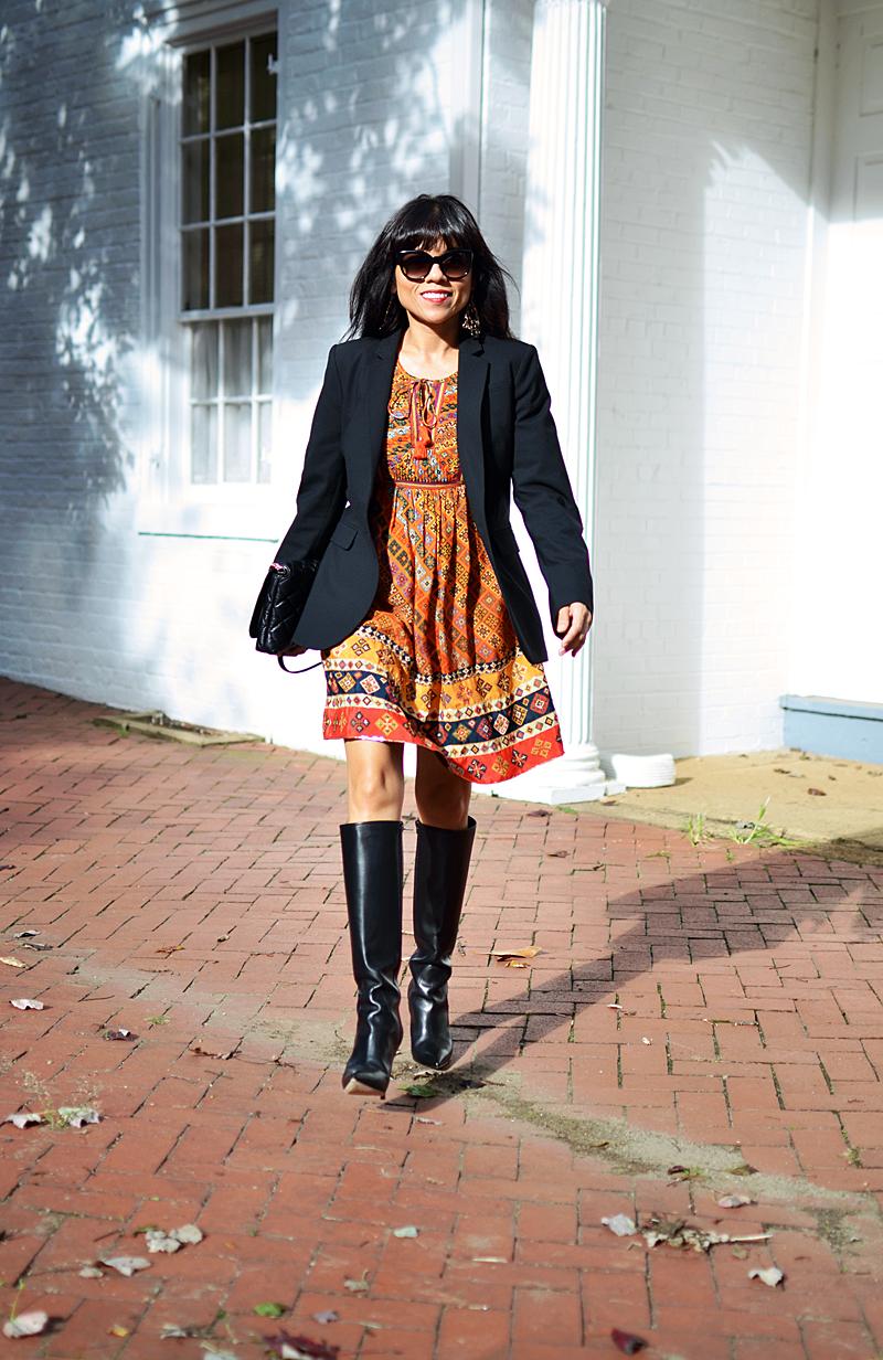 How to dress up a bohemian dress