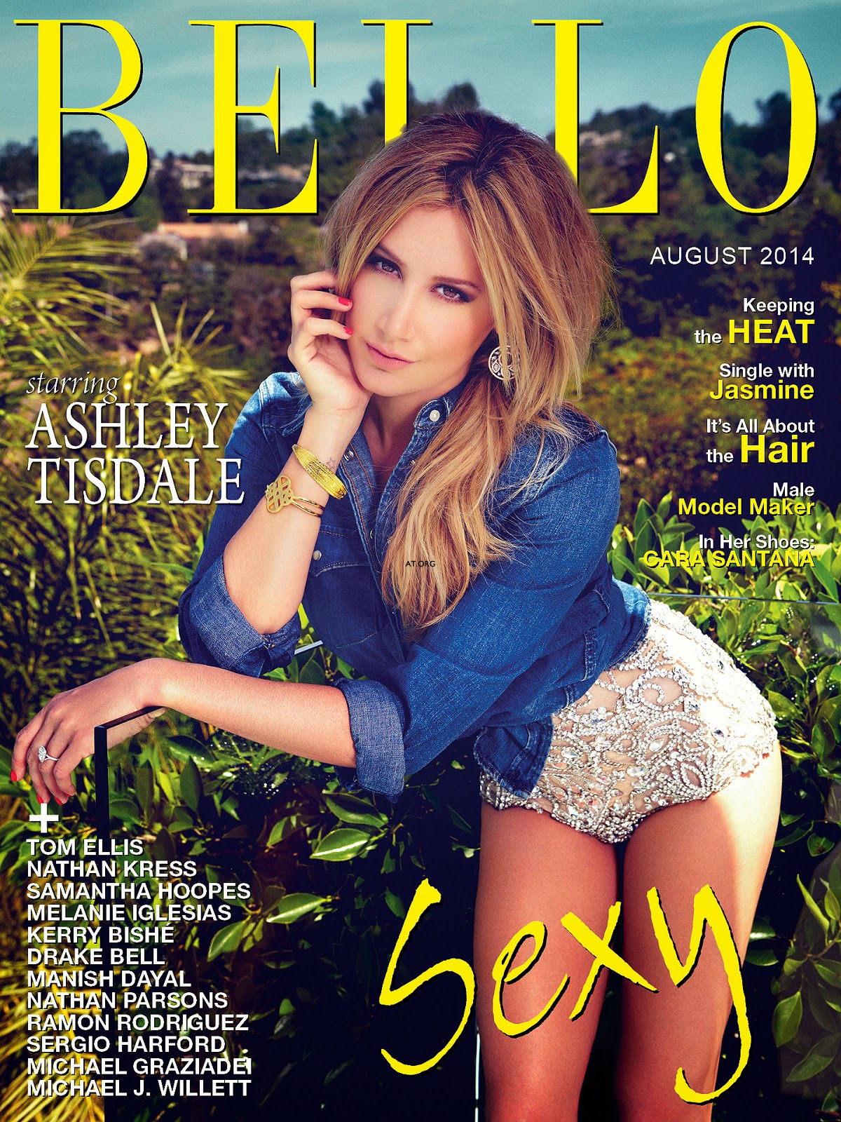 Ashley Tisdale by Aleksandar Tomovic for Bello Magazine, August 2014