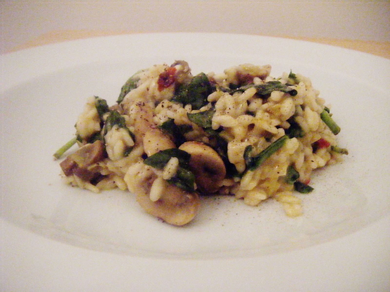 the Best Recipes: Mushroom, Leek and Spinach Risotto