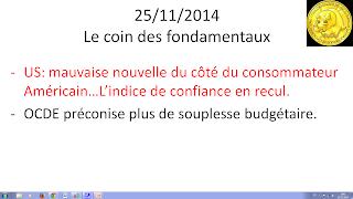 bourse actualités 25/11/2014