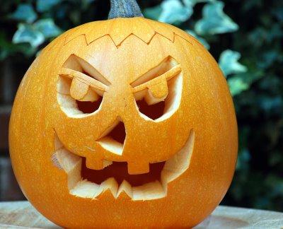 Pa s de nunca jam s autentica calabaza para halloween - Plantillas para decorar calabazas halloween ...