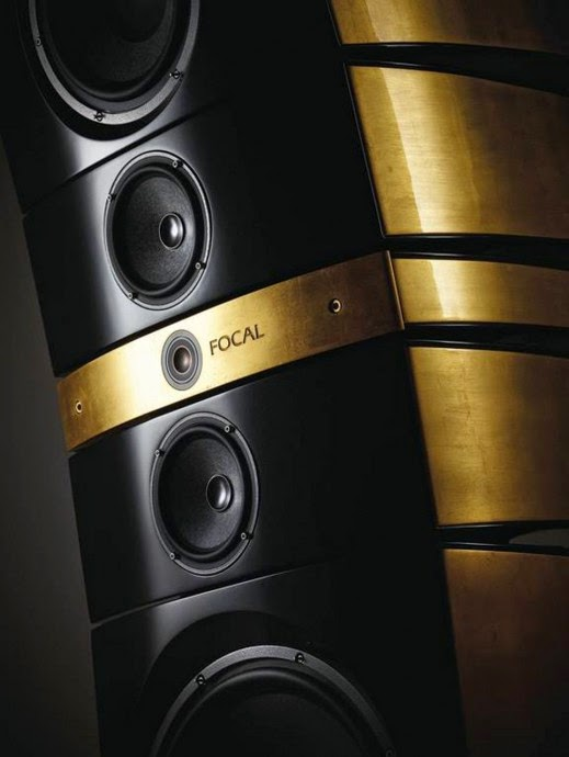 mono and stereo high end audio magazine focal grande utopia em in gold. Black Bedroom Furniture Sets. Home Design Ideas