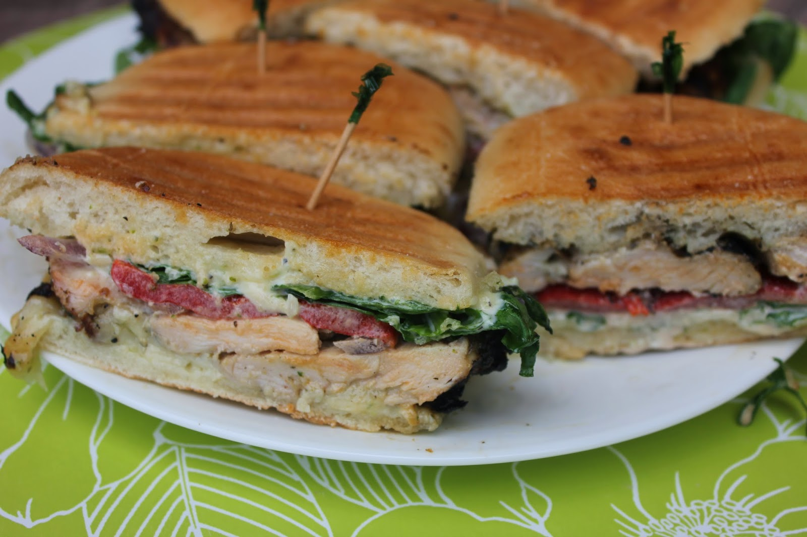 Recipe:  Chicken, Recipe:  Sandwiches, Easy Meal Ideas, easy marinade, Pesto Chicken and Red Pepper Paninis, favorite panini