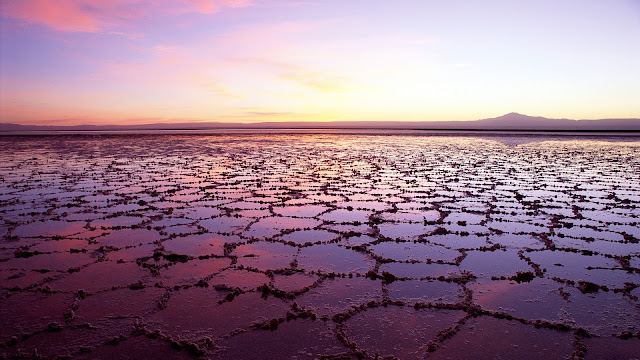 Salt Lake in Chile HD Wallpaper