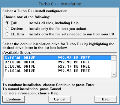 Turbo C++ for Windows Installation -ITTWIST