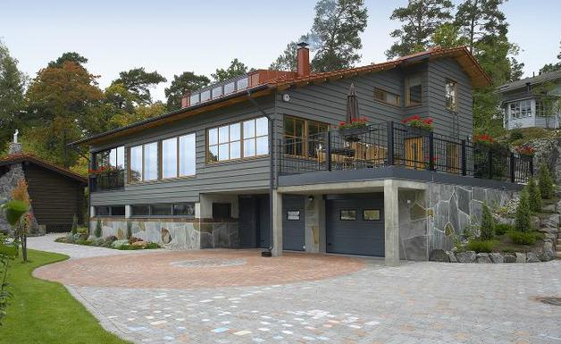 Materiales combinados hormig n madera planos de casas gratis - Casas de madera y piedra prefabricadas ...