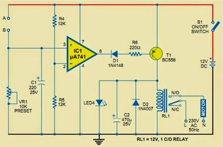 Fig.1 Unique Water Pump Controller Circuit Diagram