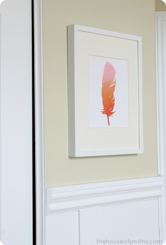 Ombre Feather Print - girly bedroom elements - thehouseofsmiths.com