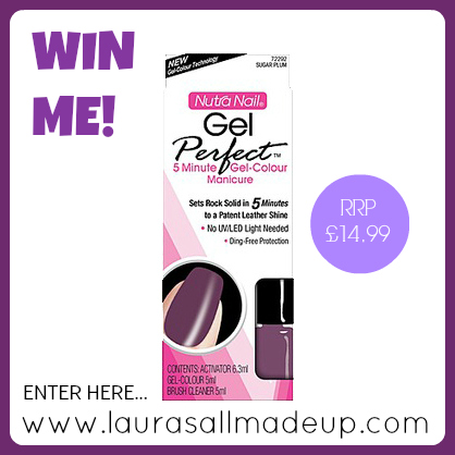 Win Nutra Nail Gel Perfect Gel-Colour Manicure Give Away Sugar Plum Lauras All Made Up